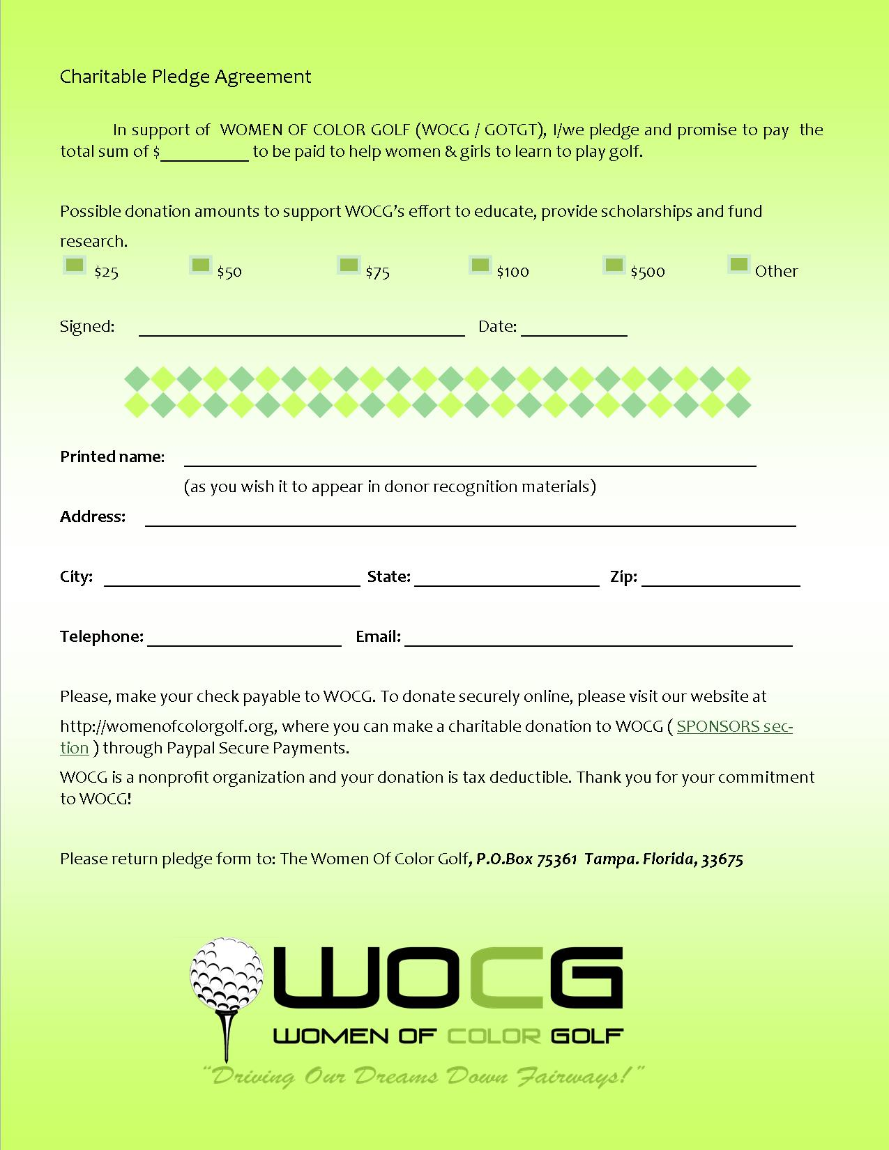 Women Color Golf Sponsors