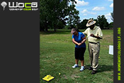 Jim Wright Professional Golfer assisting at WOCG Golf clinic at Rogers Park