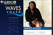 Clemmie Perry honored as 2018 WAVES OF CHANGE Award