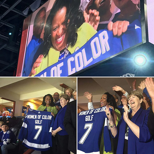 The Tampa Bay Lightning honored Clemmie Perry as the sixth Lightning Community Hero of the 2017-18 season
